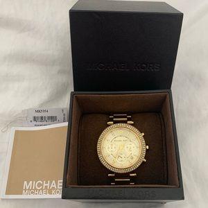 Micheal Kors Gold Parker Watch